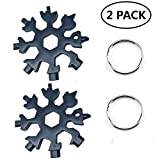 Stainless Steel Snowflake Multi-Tool Incredible Portable 18-in-1 Keychain screwdriver Bottle opener Tool For Outdoor Camping