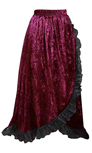 Cykxtees Theater Victorian Steampunk Gothic Renaissance Velvet & Lace Skirt for $<!--$42.00-->