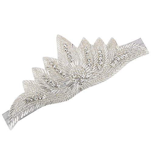 UROSA Baby Girl Flower Hair Accessories for Girls Infant Elastic Rhinestone Hair Band 2019 Gray ()