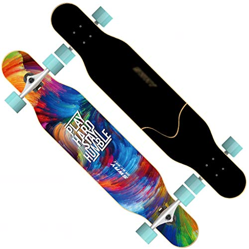 Double Scooter Boards - ZPWSNH Scooter Adult Girl Four-Wheeled Skateboard Double Dance Board Beginners Men and Women Brush Street Scooter Skateboard (Color : C)