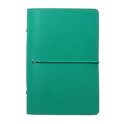 Labon's 6 Round Ring Binder Hardcover Refills Planner for Monthly Weekly Daily Schedule/2018 2019 2020 Calendar/Telephone & Address/Personal Memo 260 Pages Premium Thick Paper (A6, Grass Green)