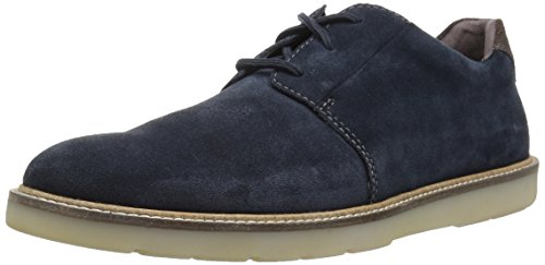 CLARKS Men's Grandin Plain Oxford, Navy Suede, 120 M ()
