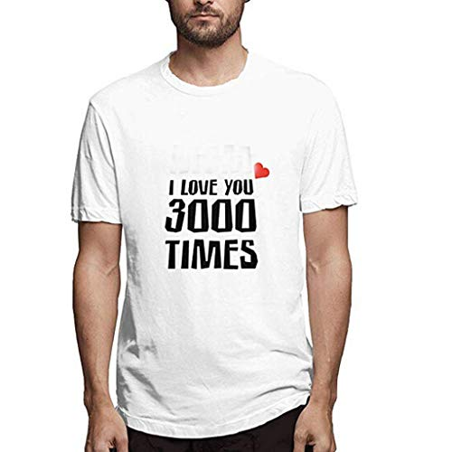 MIS1950s Men's Casual Raglan Short Sleeve T-Shirts Slim Fit Stretch Crew Neck Lapel Baseball Tee Tops i Love You 3000
