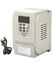AC 220V/1.5KW Variable Frequency Drive with 2M Cord, 8A VFD Inverter Frequency Converter for Spindle Motor Speed Control (Single-Phase Input, 3 Phase Output)