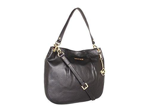 Michael Kors Bedford Large Genuine Black Leather Shoulder Tote Bag