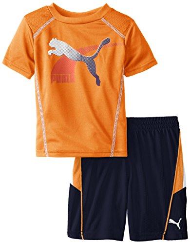 UPC 886712901688, PUMA Little Boys' Form Stripe Performance Set, Orange Clownfish, 3T