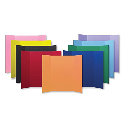 Tri Fold Project Boards-48W x 36H - 9 Colors/24 Boards Per Pack by PROJECT BOARDS ASSORTED COLORS 24PK