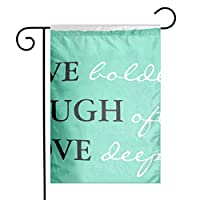 GDjiuzhang Christmas Home Garden Flags,Double Sided Outdoor Decorative Yard Flags(Green Girly Live Laugh Love Quote Teal Saying)