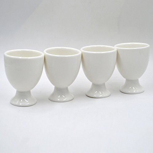 Felice White Porcelain Egg Cup Boiled Egg Serving Cup Stoneware Egg Cups Holders Stands by Felice (Image #7)