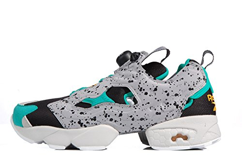 Fitness Pump Fury running retro Black Glass Green Grey-Zapatillas de running años 80 al 90 Multicolor