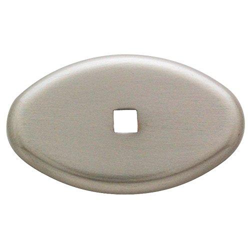 Brass Oval Backplate (Baldwin 4905.150.BIN Decorative Oval Cabinet Knob Back Plate, Satin)