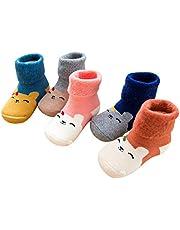 Aivtalk - Pack de Calcetines Largos para Bebés Recien Nacido Niños Niñas de Algodón Calcetines Primeso Pasos Caliente para Otoño Invierno - Multicolor