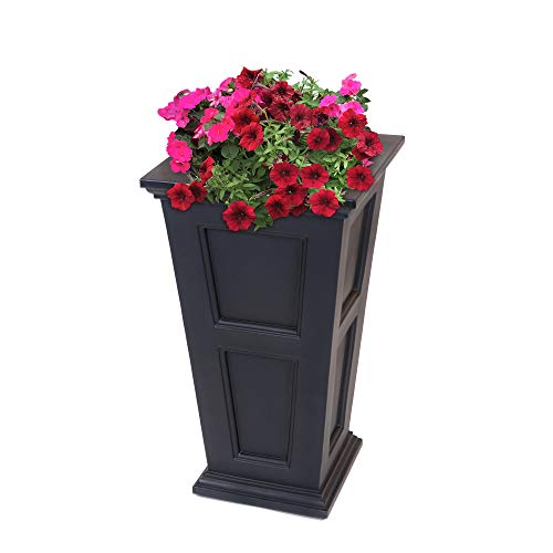 B Tall Planter, 28-Inch by 16-Inch by 16-Inch, Black ()