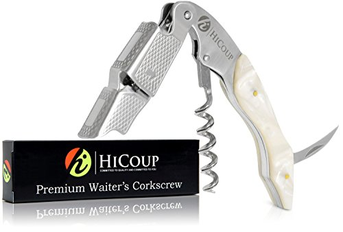 Professional Waiter's Corkscrew by HiCoup – Moonstone Resin Handle All-in-one Corkscrew, Bottle Opener and Foil Cutter, the Favored Choice of Sommeliers, Waiters and Bartenders Around the (Super Waiters Corkscrew)