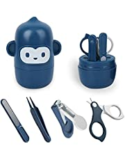 Baby Nail Kit, 4-in-1 Baby Nail Care Set with Cute Case, Baby Nail Clipper, Scissors, Nail File & Tweezer, Baby Manicure Kit and Pedicure kit for Newborn, Infant, Toddler, Kids-Owl