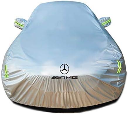 メルセデスAMG Cクラスとの互換性通気性カバーヘビーデューティーカバー屋外屋内フルエクステリアカバー全天候用ディフェンダーカバー車サンシェード雨UV保護