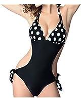 Women's Leopard Push up One Piece Monokini Swimsuit