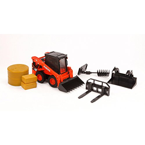 Caterpillar Skid Steer Loaders - 1:18 Kubota SSV65 Skid Steer Loader & Attachments