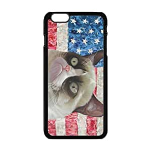 Grumpy Cat American Flag Cell Phone Case Cover For Apple Iphone 6 Plus 5.5 Inch