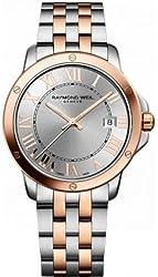 Raymond Weil Men's 'Tango' Swiss Quartz Stainless Steel Dress Watch, Color:Two Tone (Model: 5591-SB5-00658)