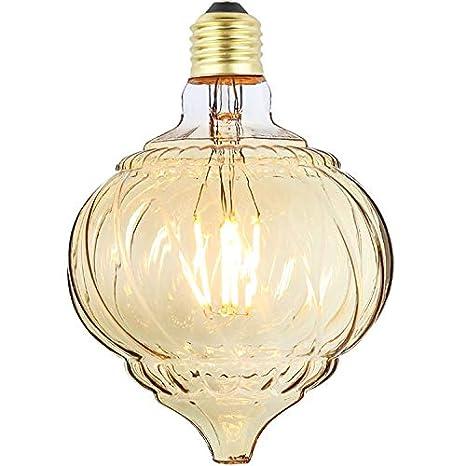 tianfan cono de Twist bombilla de filamentos LED calabaza cristal 4 W E27 Luz Decorativa Bombilla, Amber, E27 4.00 wattsW 230.00 voltsV: Amazon.es: ...