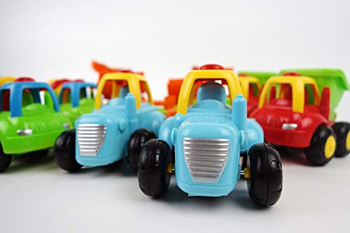 NBD Happy Singing Construction Trucks, Tractor Bulldozer Cement Mixer Dump Truck Toys for Girls and Boys 18 Months + Set of 4 Singing Trucks and Enlighten Any Toddler,These Trucks are Sturdy F by NBD