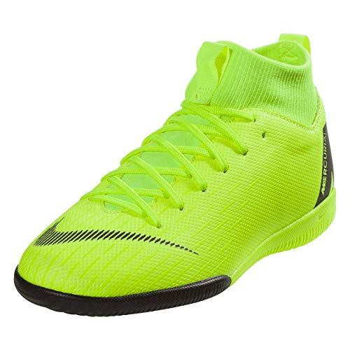 Nike Youth Soccer MercurialX Superfly VI Academy Indoor Shoes (1.5 Little Kid M US)