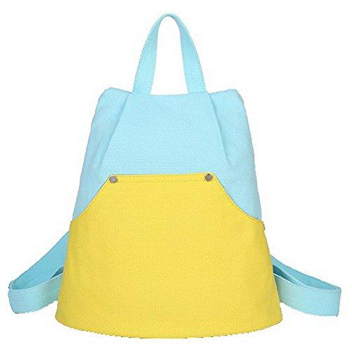 VogueZone009 Mujeres Bolsas de mano Cremalleras Compras Lona Bolsas de hombro,CCAYBP180845 Azul