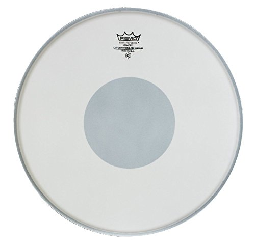 Remo Controlled Sound Coated Drum Head with Reverse Black Dot - 14 Inch (Best Snare Drum Head For Rock)