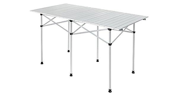 Camping Mesa/mesa plegable con sistema de láminas de aluminio ...