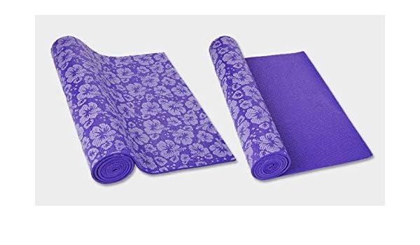 Amazon.com: WUJIEXIAN-JI PVC Printed Yoga Mat Hot 7MM Yoga ...