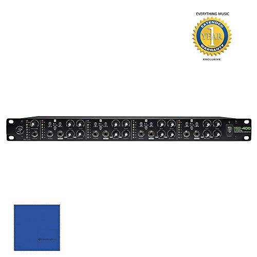 Mackie HM-400 Rack-Mountable 4-Channel Headphone Amplifier with 1 Year EverythingMusic Extended Warranty Free (Mackie Power Amps)