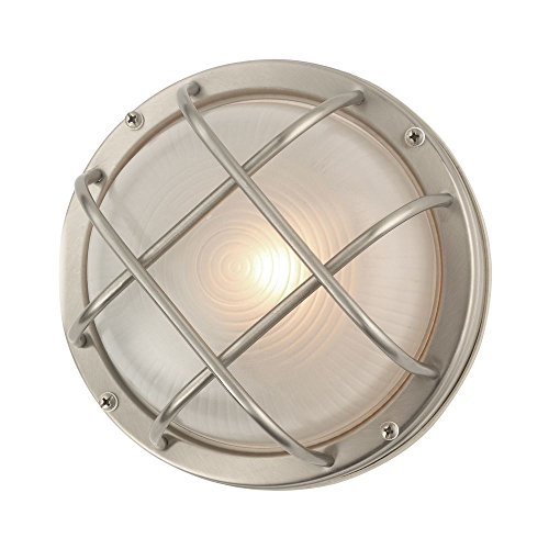(Bulkhead Marine Outdoor Ceiling/Wall Light - 8-Inches)
