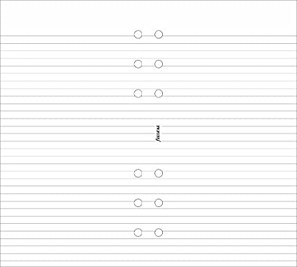 Filofax Personal Ruled Notepaper - White