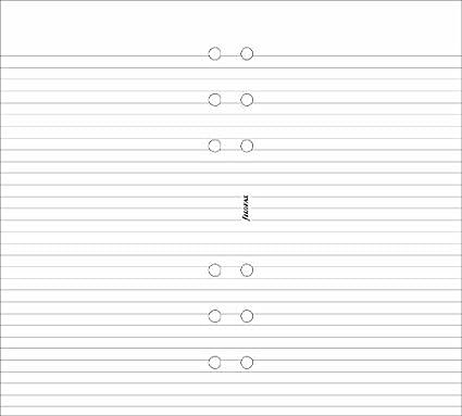 Filofax Personal - Recambio para agenda de anillas, hojas rayadas para notas, color blanco