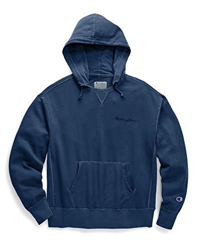 - Champion Men's Vintage Dye Fleece Pullover Hoodie, Estate Blue, X-Large