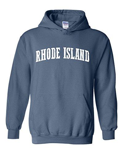 Ugo RI Rhode Island Providence Map Home of Rams University of Rhode Island Unisex Hoodie - Providence Shopping Ri