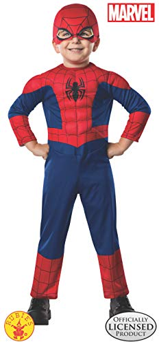Spiderman Costume For Toddlers (Rubie's Marvel Ultimate Spider-Man Costume, Toddler, As)