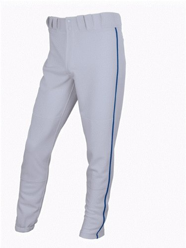 (Easton Men's Pro Plus Baseball Pants with Piping (Grey/Royal, X-Large) )