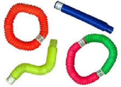 Pop Toob Set of Six (Colors May Vary) by Poof Slinky