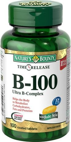 Nature's Bounty Ultra Balanced B-100 Complex Time Release, 100 (Ultra B-complex 100 Tablets)