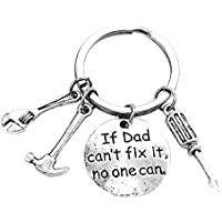 FDNAU If Dad Can't Fix It No One Can Hand Tools Keyring Father's Day Gift Keychain