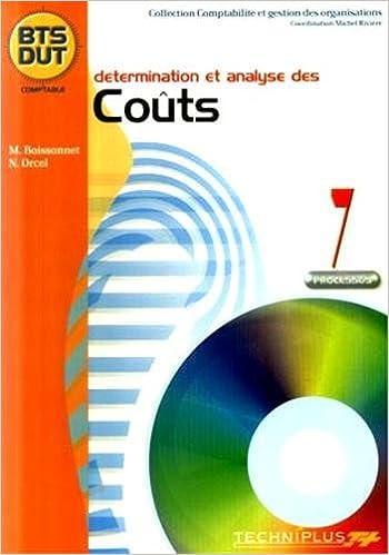 Télécharger en ligne Détermination  et analyse des couts Processus 7 BTS DUT comptable pdf, epub