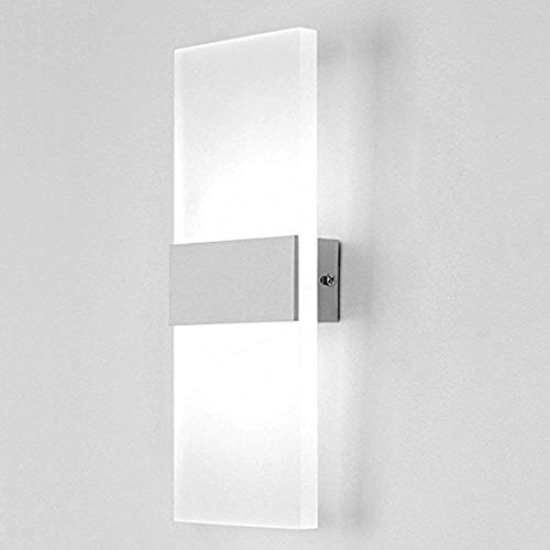 Lightess Up Down Wall Light LED Sconce Modern Acrylic Wall Lamp for Living Room Bedroom Lamps Corridor Wall Lighting 6W Cool ()