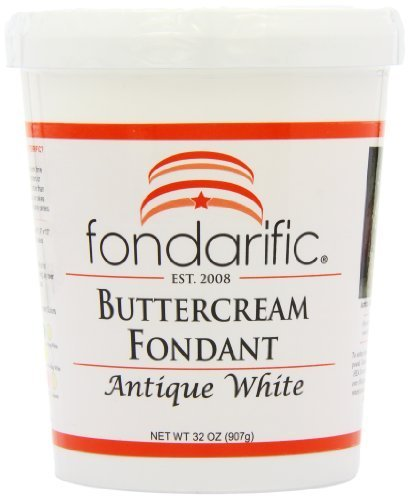 (Fondarific Buttercream Antique White Fondant, 5-Pounds by Fondarific )