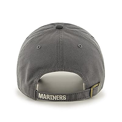 MLB Seattle Mariners Cronin Clean Up Adjustable Hat, One Size, Charcoal