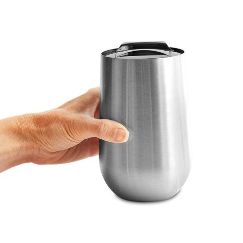 Stainless Steel Double Wall Stemless Wine Glass with Lid - 16 oz - 16 Oz Stemless Wine Glass