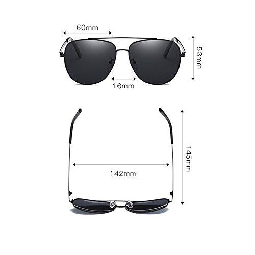 Black Gray Gafas Gafas Frame sol conducción LX lens de frame Hombres silver polarizadas LSX Lens al clásica de aire de Color viaje libre Gray Silver water nueva Sggx4q