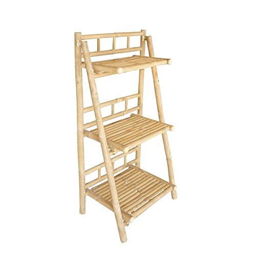 - Zero Emission World Bamboo Natural 3-Tray Foldable Shelf
