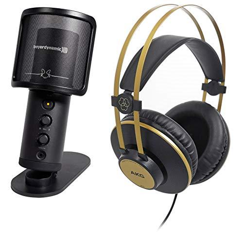 Beyerdynamic FOX Recording USB Podcast Microphone Mic+Stand+AKG K92 Headphones